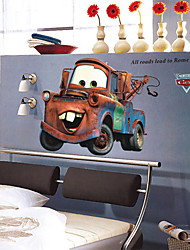 stickers muraux stickers muraux, les voitures de bande dessinée mater mur de PVC autocollants