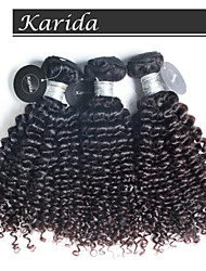 3 pcs/Lot Top Quality Peruvian Human Hair Deep Curly Wavy Hair