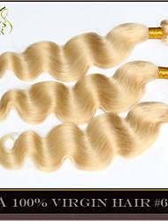 """4pcs lotto 14 """"-30"""" Colore candeggina bionda onda brasiliana del corpo dei capelli vergini 613 capelli umani di Remy del tessuto fasci"""
