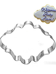 Oval Blessing Frame Shape Cookie Cutters  Fruit Cut Molds Stainless Steel