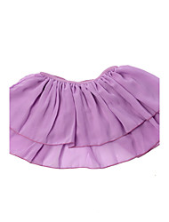 BHL Retailed Toddler Girls Flutter Ruffle Short Sleeve Leotard Kids Gymnastics Dancewear Chiffon Skirt 4-14Y