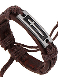 PUNK New Vintage Fashion Leather Bracelet