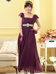 Women's Elegant  Plus Sizes Strapless Beads Bridesmaid Wedding Party Dress