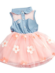 Children Kids Girls Baby Sleeveless Korean Denim Summer Sundress Dress Clothes