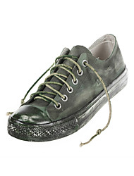 Hand-painted Canvas Shoes Outdoor/Athletic/Retro/Casual Canvas Fashion Sneakers/Athletic Shoes Green