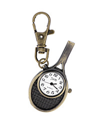 Antique Vintage Style Creative Tennis Racket Pocket Watch Key Ring Watch for Men Women Ladies Student Gift Cool Watches Unique Watches