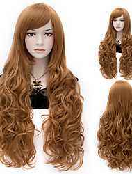 APH Elizabeth Long Curly Brown Cosplay Wigs Full Hair Wig