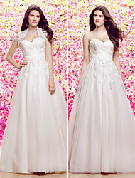 Lanting A-line/Princess Wedding Dress - Ivory Court Train Sweetheart Lace / Tulle