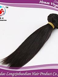 """12 """"color natural del precio de fábrica 7a 100% remy briazilian trama del pelo humano"""
