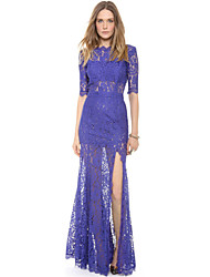 cool Women's Sexy Asymmetrical ½ Length Sleeve Dresses (Lace)