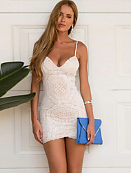 Women's Sexy Bodycon Summer Beach Party Lace Mini Dress