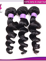 3pcs Brazilian Grade 6a Loose Wave Virgin Hair 100% Human Peruvian Indian Malaysian Loose Wave Hair Wave