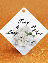 Personalized Gift Tags Bridal Bouquet Design Hexagon Pattern with Art Paper 36pcs/set