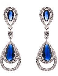 Alloy Crystal Drop Dangle Earring Party for Women's Jewelry(2 Colors)