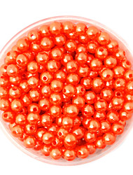 Beadia 100g(Approx 1000Pcs)  ABS Pearl Beads 6mm Round Orange Color Plastic Loose Beads For DIY Jewelry Making