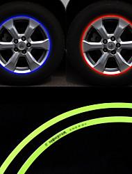 RUNDONG® Car Wheel Hub Decoration DIY Reflective Stickers 16pcs(Color Selection)