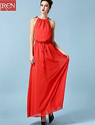 Muairen®Women'S Resort Beach Harness Waist Dress