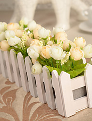 Artificial Flowers Simulation Rose with Fences Home / Garden Decor (30*12cm)