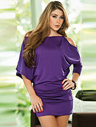 Women's Bodycon/Party ½ Length Sleeve Dresses (Polyester)