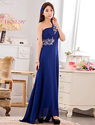 Women's Elegant Floor-length Plus Sizes Strapless Slim Bridesmaid Wedding Party Dress