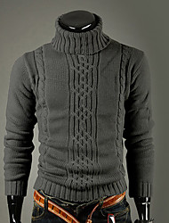 LuoGao Men's Casual Long Sleeve Sweaters (Cotton Blend)
