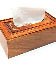 caixa de tecido fumaça de madeira de mogno de alto grau de caixa de embalagem de madeira penso higiénico criativo restaurar antigas formas