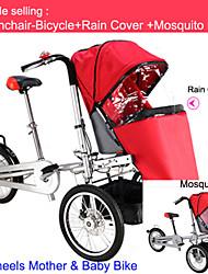 todo el conjunto de paseo-bicicleta para un solo bebé + protector de lluvia + ruituo neta mosquite ™ cochecito del carro 3 ruedas madre