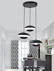 Best Selling Product 3 Lights White /Black Lamp Shades Latest Cheap Decor Modern Pendant Light for Dining Room