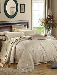 Yuxin®Upscale 60s Tencel Four Pieces Very Cool Silk Bedding Reactive Printing and Dyeing kits   Queen/King  Size