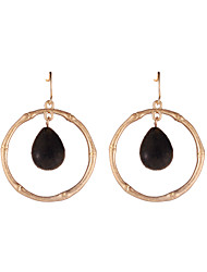 Colorful Women's Fashion Resin Gold-Plated Pendant Earrings Silver Plated Jewelry