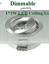5pcs MORSEN® 3W 200-300LM Support Dimmable Square LED Panel Lights LED Ceiling Lights