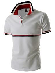 Herren Büro Polo  -  Einfarbig Kurz Baumwolle/Polyester