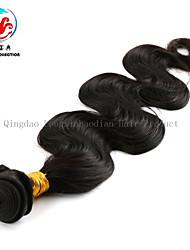 melhor qualidade de 16 polegadas cor natural reto de seda atacado 100% virgem peruano tecer cabelo humano