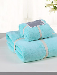 AIWODE® Blue 100% Cotton Bath Towel Set with Bath Towel&Wash Towel
