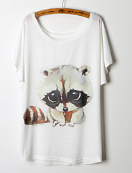 Kortærmet Kvinders Rund hals T-shirt Bomuldsblandinger
