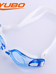 YOBO Unisex Swimming Goggles Light Blue Anti-Fog/Adjustable Size/Anti-UV/Anti-slip Strap PC Silica Gel