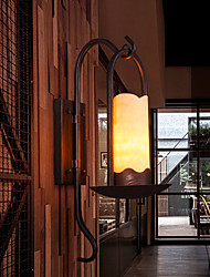 Wall Lamp,1 Light, Retro Iron Resin Glass Painting