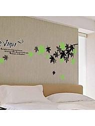as decorativos mola folha adesivos de parede
