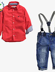 Boy's Cotton Blend Clothing Set,All Seasons Solid