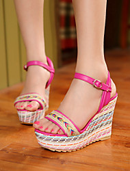 Women's Shoes  Wedge Heel Wedges Sandals Casual Blue/Red/White