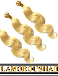 """3pcs / lot 12 """"-26"""" vierge trame de cheveux blond cheveux humains fabricant direct birman"""