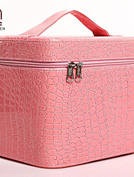 Handcee® Best Seller Fashion Crocordile Embossing PU Big Volume Hard Case Minaudiere Cosmetic Bag