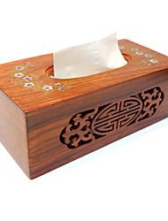 High-Grade Mahogany Wood Sanitary Napkin Paper Carton Box Wooden CreativeTissue Box