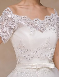 Wedding  Wraps Boleros Short Sleeve Lace Ivory Bolero Shrug
