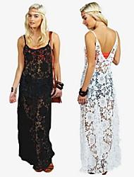 Nikki  Women's Beach/Casual Sleeveless Dresses (Lace)