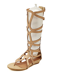 Women's Shoes  Flat Heel Gladiator Sandals Casual Black/Gold
