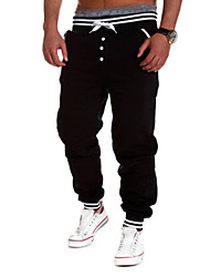 Men's Print Casual / Formal / Sport Sweatpants,Cotton / Elastic Black / Blue / White / Gray