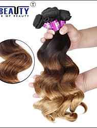 4 pc / lotto 7 bis 3t peruviane trame dei capelli umani capelli vergini dell'onda, in tessuto 100% capelli non trattati remy peruviano