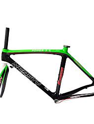 NEASTY Cadre pour la route Entièrement en carbone Cyclisme Cadre 700C Brillant 3K/12K 44/52/54/56cm cm 17 pouce