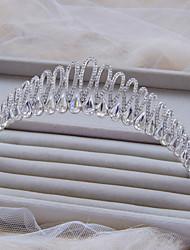 Fashion Silver Color With White Rhinestone Wedding Tiara A1135A